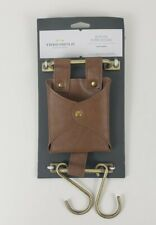 Threshold Utility & Design! Faux Leather Pouch With Hooks! 5 in W x 10 1/4 in H!
