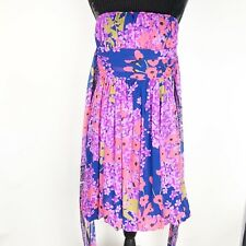 Rubber Ducky Women's Dress Size Large Strapless Large Stash Cocktail Party