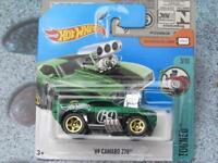 Hot Wheels 2017 #171/365 1969 chevy CAMARO Z28 green Tooned