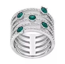 Mew Swarovski Crystal Creativity Wide Ring Green Size Us 52 / Eur 6 (S) #5184555