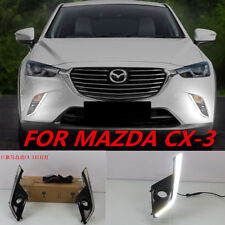 for Mazda CX-3 2016~2017 LED Daytime Running Lights DRL LED Fog Lamp