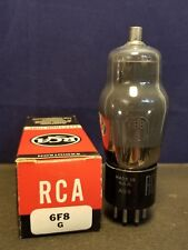 Vintage RCA 6F8G Triode Vacuum Tube - TV7 tested at 112/112 (min 50) NOS??