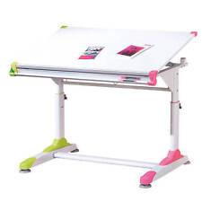 Bureau enfant modulable orientable rectangulaire ergonomique reglable rose vert