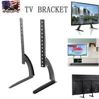 "Universal TV Bracket Stand Tabletop Base Stand TV Pedestal Mount For 26""~65"" TV"