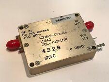 MINI-CIRCUITS ZQL-1900LNW  HIGH GAIN LNA 1.7 - 2.0Ghz +37dBm RF AMP     fbb16~2