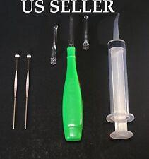 Tonsil light  Stone Remover Kit w/ LED Light + Irrigation Syringe  USA SELLER