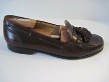COLE HAAN BRAGANO Burgundy Leather Loafers Tassel Kiltie Shoe Size 7 1/2 M