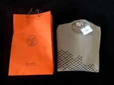 HERMES Cashmere Luxury Men Leather Details Jumper Sweater (NEW)