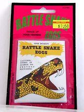 Rattlesnake Fake Eggs Joke Prank Halloween Party Trick Or Treat  Novelty