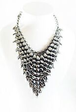 USA SELLER Fashion Necklace Unique Charming Fancy Vogue Chic Party Silver Chunky