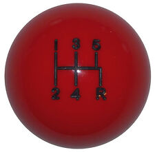 Red Mustang -R 5 Speed shift knob M12x1.25 thread U.S MADE