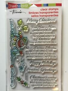 Stampendous Clear Acrylic Stamp Set SNOWMAN WISHES SSC1266 Christmas NEW