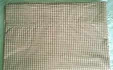 Nautica Twin Flat Sheet Pink Check/Plaid  Pink Sands 100% Cotton