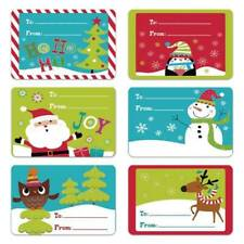 250 Sheets Christmas Self Adhesive Gift Labels Tags Assorted Stickers Wrap kasd