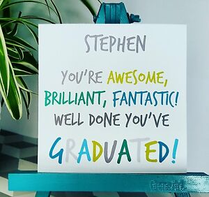 PERSONALISED Handmade Congratulations Well Done You Graduated Graduation Card