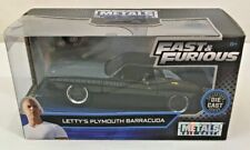 New Jada Metals Die Cast Fast And Furious Letty's Plymouth Barracuda