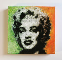 Pop Art, Contemporary Art, Original Painting,Acrylic, Collage on canvas, Marilyn