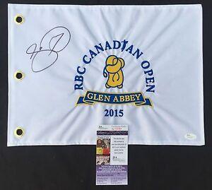 JASON DAY SIGNED 2015 RBC CANADIAN OPEN FLAG 2020 PGA CHAMPIONSHIP PROOF JSA K93