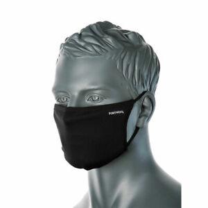 Black Face Mask Anti bacterial Protection Mask Washable Unisex UK