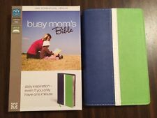 NIV Busy Moms Thinline Bible - $29.99 Retail - Blueberry / Spring Green Duotone