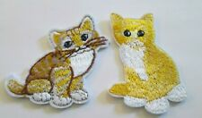 (2) KITTEN PATCHES EMBROIDERED PATCH SEW/IRON ON ~USA SELLER~