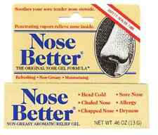 Nose Better Gel 0.46 oz (15 gm) for Chapped Nose, Sore Nose, Head Cold New