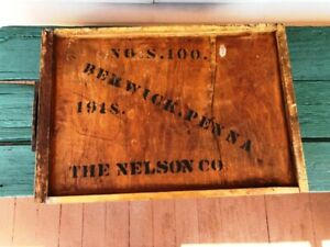 1918  Desk Drawer Box  Oak + Cherry Berwick Pa, Baltimore Md.  Nelson Co. Ex