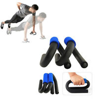 Steel Push up Bars - Muscle Pushup Stands S Shape with Foam Padded Grips