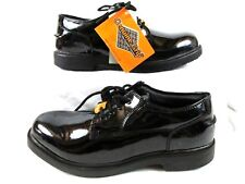 Tugs Mens Size 12 M Genuine Grip Slip-Resistance Lace up Patent Leather Black