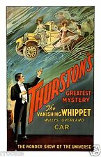 THURSTON Vanishing Whippet Willys Overland Magic Theater Magician Poster Print
