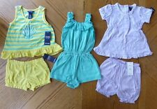 Chaps New 18 month Girl Summer clothes LOT $102 rv Romper Outfit 2-piece NWT