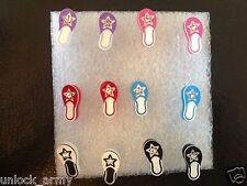 The Sandals Swarovski Crystal Bling Handmade Stud Earrings Mix Colors 6 Pairs A8