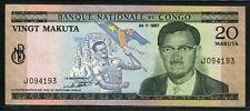 Congo Democratic Republic  1967, 20 Makuta, P10a, XF+