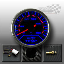 "Water temp gauge 2"" 52mm interior dash smoked dial face kit with sender"