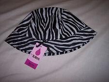 Totes Womens Bucket Rain Hat Black and White Zebra Print One Size 2