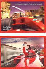 F1 Singapore Grand Prix 1st Night Race Postcard 2008