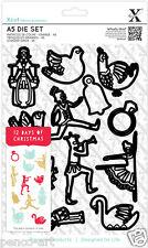 Xcut 12 Piezas Die Set Navidad iconos Uso xcut Sizzix Big Shot Craft máquinas
