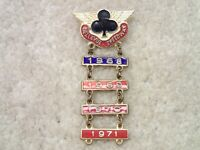 Bellevue Speedway Vintage Racing Pin Pinback with 1968 1969 1970 1971 Year Bars