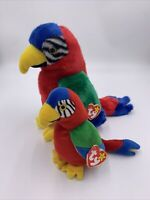 TY JABBER the PARROT BEANIE Originals-BEANIE BABY &  BUDDY with Tags Plush Bird