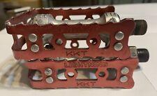 "Old School Bmx  RED KKT LIGHTNING PEDALS 9/16"" Hutch Suntour Reedy Demco GT"