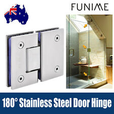 180° Stainless Steel Frameless Wall to Glass Shower Door Hinges wall mount hinge