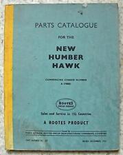 Humber Hawk CAR illustrato pezzi di ricambio catalogo DEC 1956 #KG 357