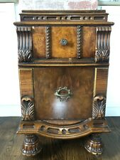 Vintage Early 1900's Bedside Table Nightstand Ornate Carved Detail