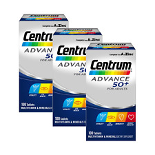 Centrum ADVANCE 50+ (100 Tablets) Complete Daily Multi Vitamins Adults Over 50
