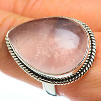 Large Rose Quartz 925 Sterling Silver Ring Size 9 Ana Co Jewelry R45854F