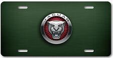 Jaguar Aluminum Metal Car Auto License Plate Abstract Art New British Green R