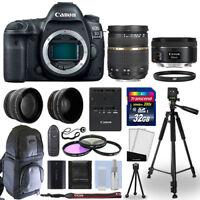 Canon EOS 5D Mark IV DSLR Camera + 4 Lens Kit 28-75mm AF + 50mm + 32GB & More