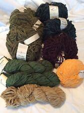 HUGE LOT cotton Chenille Yarn chunky ROWAN/CRYSTAL PALACE