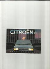 CITROEN 2CV6, DYANE 6, VISA RANGE,GSA RANGE AND CX MODEL RANGE BROCHURE MAY 1982