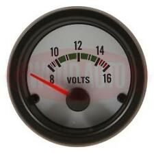 52mm White Face / Clear Lens 12v Volt Voltage Voltmeter Gauge Car Rally Camper